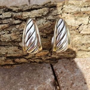 GORGEOUS 925 SILVER/GOLD EARRINGS